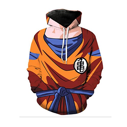 Harry Shops Halloween Holiday Dragon Ball Costume Hoodie-OR-Male-XX-Large (Buy Goku Halloween Costume)