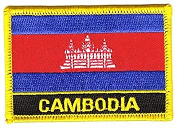Sammeln & Seltenes Aufnäher Kambodscha Schrift Patch Flagge Fahne