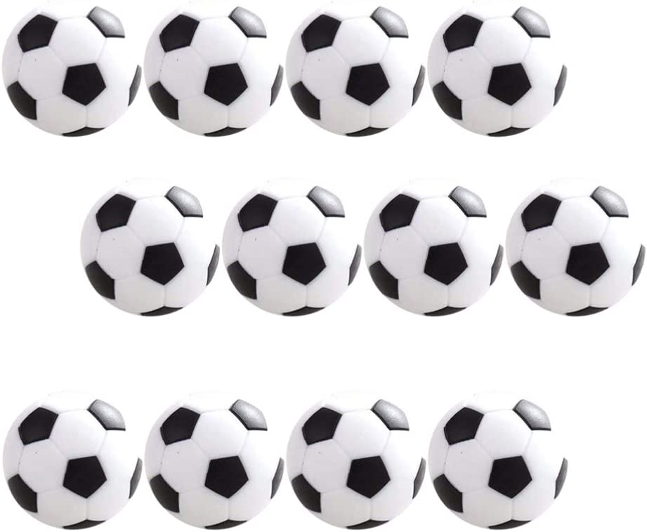 LIOOBO 12 Piezas de Fútbol de Mesa 31Mm Bolas de Reemplazo de Futbolín Mini Fútbol de Mesa Accesorio de Pelota de Juego de Fútbol (Negro): Amazon.es: Juguetes y juegos