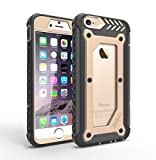 For iPhone 6 Plus / 6s Plus [Heavy Duty] For Apple Full-body Premium Hybrid Protective Cover with Built-in HD Clear Screen Protector, Dual Layer + Impact Resistant Bumper Armor Shield (Gold/Black)