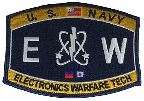 United States Navy Rating EW Electronics Warfare Tech Patch - Veteran Owned