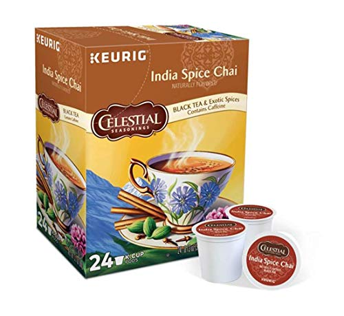 Keurig Tea and Ice Tea Pods K-Cups 18/22 / 24 Count Capsules ALL BRANDS/FLAVORS (Twinings/Chai/Celestial/Lipton/Tazo/Diet Snapple) (24 Pods India Spice Chai) -  Globalpixels