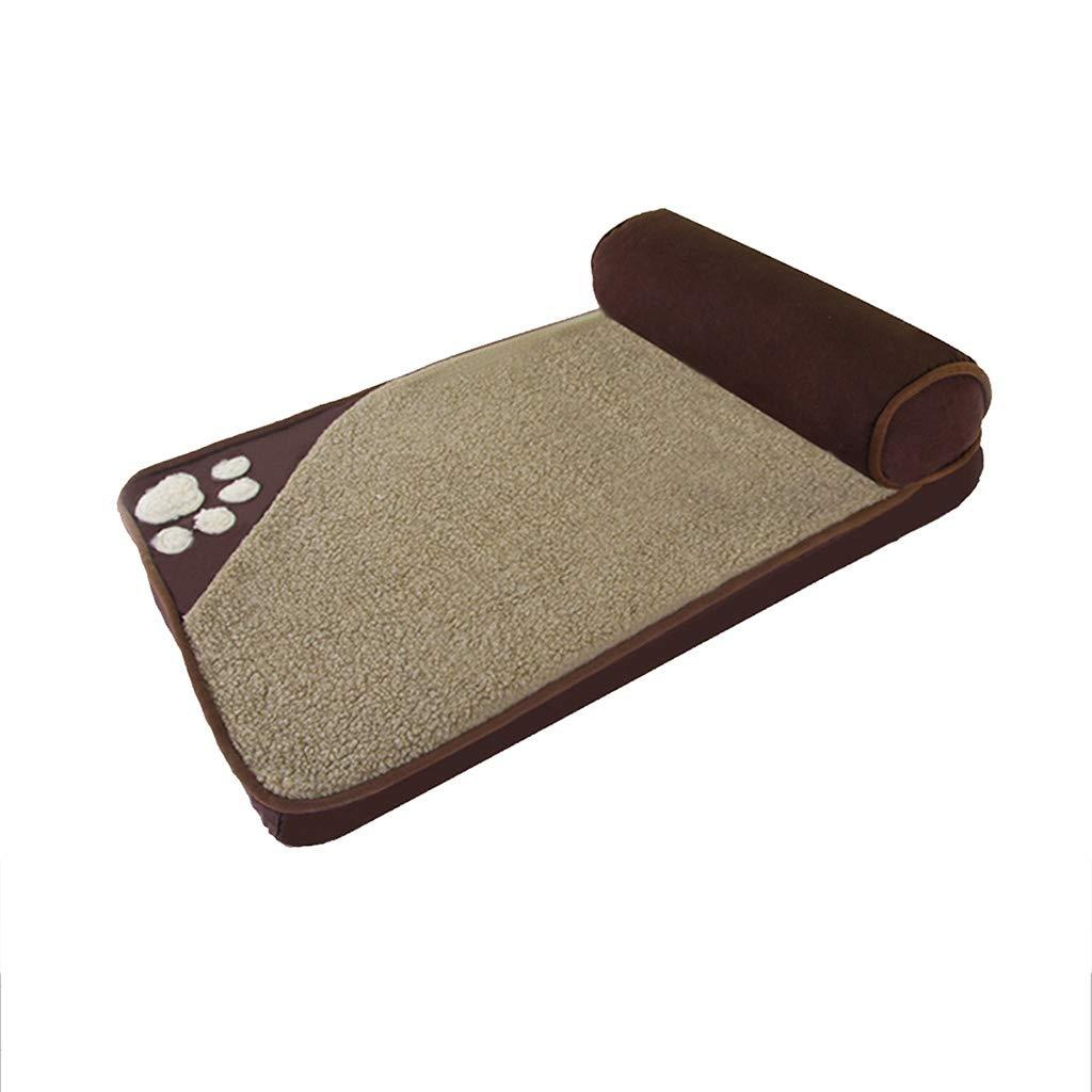 D 8545cm D 8545cm QUD Kennel, removable and washable small medium-sized large dog golden Retriever pillow pillow pet nest kennel (color   D, Size   85  45cm)