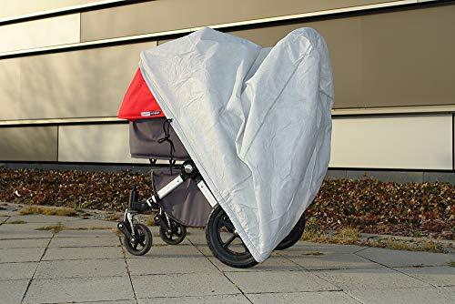 softgarage buggy softcush lichtgrau Abdeckung f/ür Kinderwagen Moon Nuova Regenschutz Regenverdeck