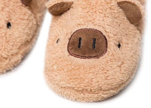 Pink Women Bunny TOKYO Slippers Size for Room Animal Brown 9 T Piggy Fuzzy Shoes qCxHxU18w