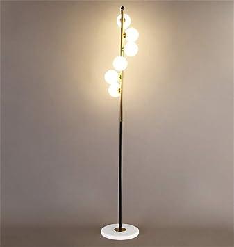 Lámpara de pie Moderno Diseño en espiral 6 Cabeza Bola Pantalla de ...