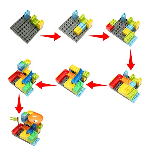 FUNTOK Marble Run Railway Construction Toys Star Travel Game 36pcs Building Blocks Toys for Child by FUNTOK (Image #4)