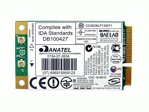 Atheros Ar5007eg Ar5bxb63 Mini Pci-e Wireless Wifi Wlan Card 455549 459339 001 002 003 004 for Hp Laptop (Atheros Ar5007eg Wireless Network Adapter Driver Vista)
