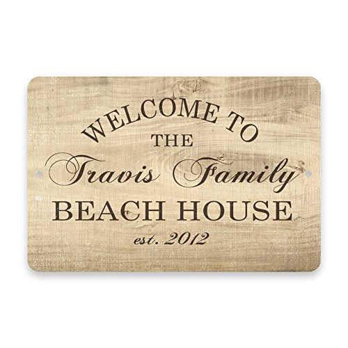 Personalized Subtle Grain Welcome Family