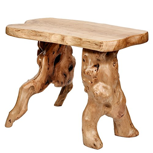 WELLAND Unique Natural Wood Garden Bench - Wood Garden Dining Table Shopping Results