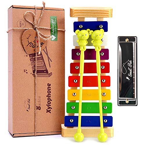 Xylophone for Kids: Best Holiday/Birthday DIY Idea for your Mini Musicians, Musical Toy with Child Safe Mallets…