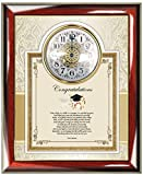 Congratulation Graduation Gift from Parents to Daughter or Son Personalized Poem Wall Clock Frame for Law School Graduates, Medical, Dental From Parents High School