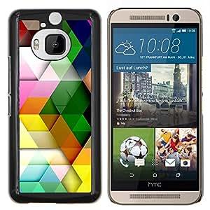 """Be-Star Único Patrón Plástico Duro Fundas Cover Cubre Hard Case Cover Para HTC One M9+ / M9 Plus (Not M9) ( Patrón Polígono colores pastel colorido 3D"""" )"""