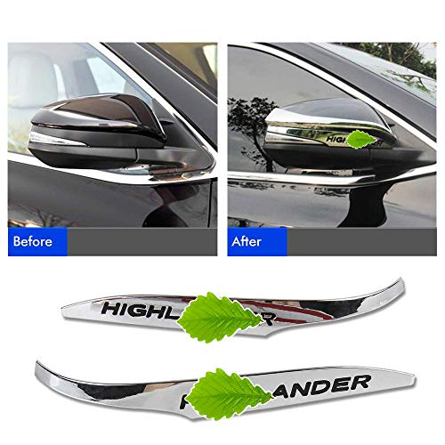 Side Mirror Trim - Wayrank 2pcs ABS Chrome Rearview Side Mirror Cover Trim Strip Emblems For Toyota Highlander 2015-2018