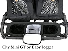 Overall dimensions 23 x 4.5 x 9 inches Middle compartment is insulated and is 8 x 4.5 x 9 inches deep. Easily fits multiple diapers and wipes in the compartment. Large enough to hold and insulate up to 6 water or baby bottles.
