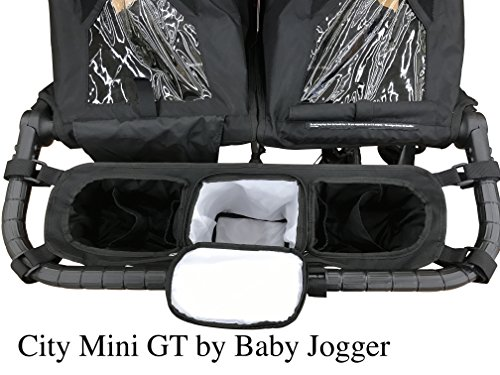 Double Stroller Organizer for Bob Duallie and Baby Jogger City Mini GT (Mini Double City Stroller)