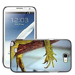 GoGoMobile Slim Protector Hard Shell Cover Case // M00124986 Animals Reptile Claw Hand Lizard // Samsung Galaxy Note 2 II N7100