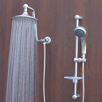 Atlantis 7 Rain Shower Head System, Brushed Nickel