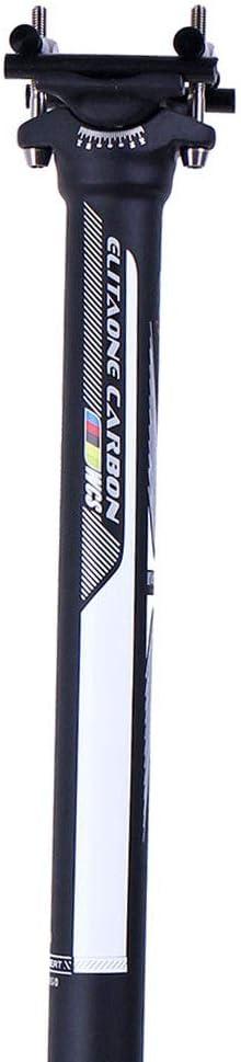 350//400 mm QIKU Tige de Selle Fibre de Carbone Tube de Selle VTT//v/élo de Route en Carbone 27.2//31.6