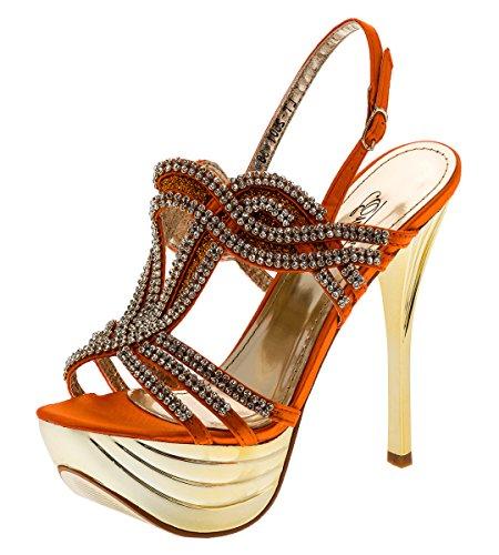 Shayenne - Plataforma Mujer naranja
