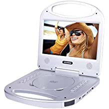 Sylvania 10-Inch Portable DVD Player with Integrated Handle and USB/SD Card Reader, Silver
