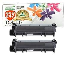 Shop At 247 ® Compatible Brother TN630 (2 Packs) Black Laser Toner Cartridge for HL-L2320D, HL-L2340DW, HL-L2360DW, HL-L2380DW, MFC-L2700DW, MFC-L2720DW, MFC-L2740DW