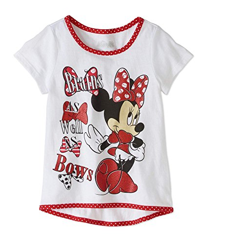 - Disney Minnie Mouse Toddler Girls'Brains As Well As Bows Short Sleeve Graphic Tee (2T)