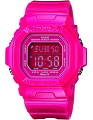 Casio Womens BG5601-4DR Baby-G Square Luminous Color Pink Digital Watch