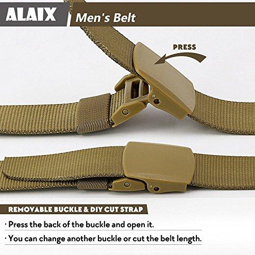 Plastique Alaix Réglable Métal Buckles Avec 4 Double Nylon Ceinture Large Beige 0cm Non awavrq6