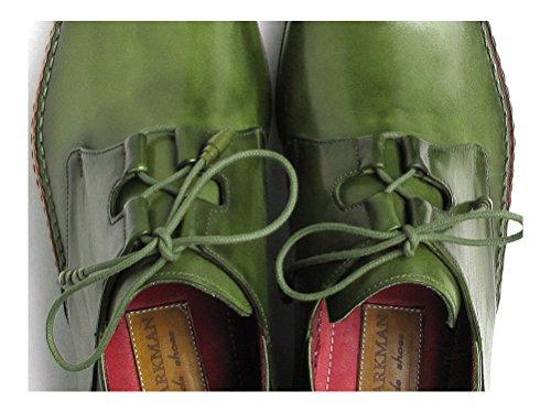 Paul de Dessus nbsp;vert robe Ghillie hommes cuir semelle et 022 à la laçage nbsp;– PARKMAN en main en Chaussures ID cousue côté cuir A4qrEA6w