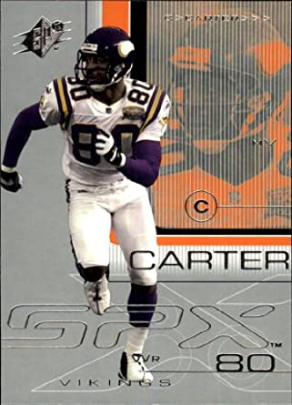 2001 SPx Football Card #51 Cris Carter Near Mint/Mint