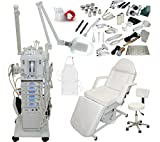 Cheap 22 in 1 Elite Series Multifunction Diamond Microdermabrasion Facial Machine & Adjustable Electric Bed Table Chair Salon Spa Beauty Equipment