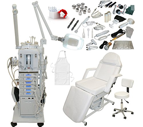 22 in 1 Elite Series Multifunction Diamond Microdermabrasion Facial Machine & Adjustable Electric Bed Table Chair Salon Spa Beauty Equipment by LCL Beauty