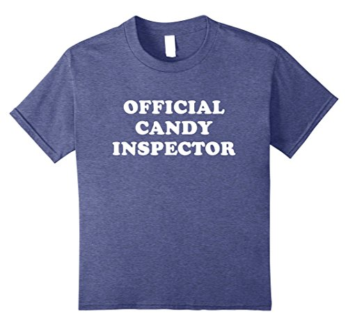 Plus Size Last Minute Halloween Costumes (Kids Official Candy Inspector Shirt Halloween T-Shirt For Parents 8 Heather Blue)