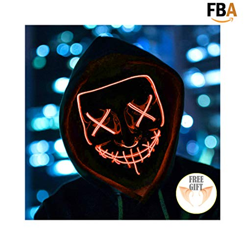 Halloween Mask Light up Mask Cosplay LED Mask