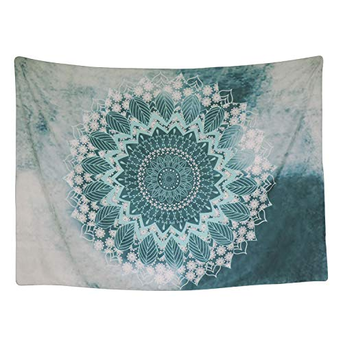 Indian Mandala Tapestry Wall Hanging Floral Pattern Bohemian Hippie Flower Psychedelic Tapestry Ethnic Decorative Fabric Tapestry for Dorm Home Decor Beach Cover (M/51.2 X 59.1, Multi)