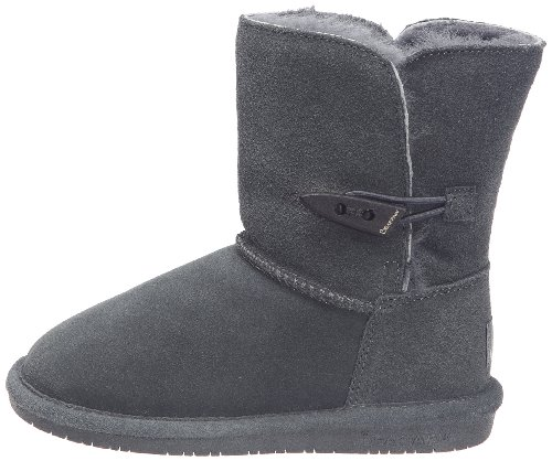Bearpaw Abigail Charcoal Unisex Kids Shearling Boot Size 1M by BEARPAW (Image #5)