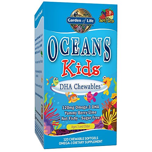 Garden of Life Oceans Kids DHA Chewables, Berry Blast, 120 (Kids 120 Chewable)