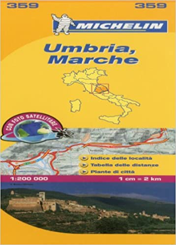 Marche Umbria Michelin Local Map 359 Michelin Local Maps