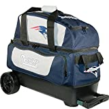 KR Strikeforce New England Patriots Double Roller Bowling Bag, Multicolor