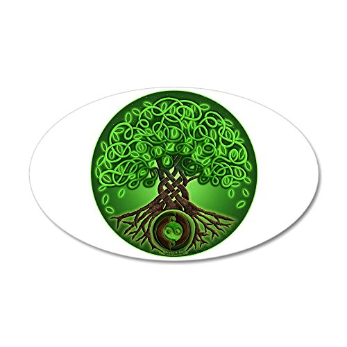 CafePress - Circle Celtic Tree of Life 22X14 Oval Wall Peel - 20x12 Oval Wall Decal, Vinyl Wall Peel, Reusable Wall Cling