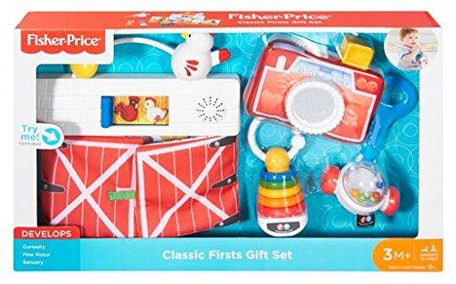 Fisher-Price Retro Modern Gift Set (Fisher Price Newborn Teether)