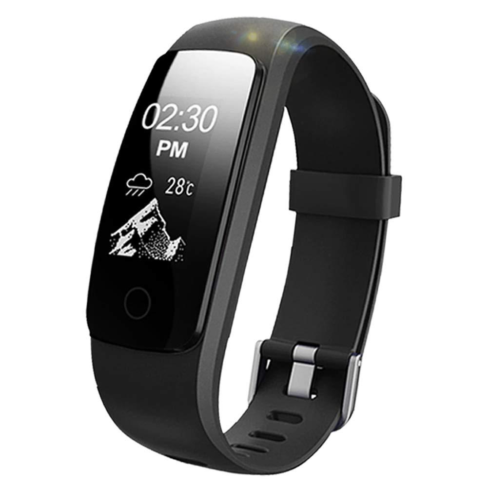 Lintelek Fitness Tracker, Orologio Cardiofrequenzimetro Pedometro Impermeabile ID107HR Plus