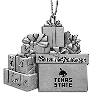 Texas State University - Pewter Gift Package Ornament