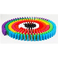 SN Toy Zone Big Sized Dominos 100 Pcs Blocks , 3 Small Wooden Rolling Coins and Bridge (1 Fancy Gel Pen)
