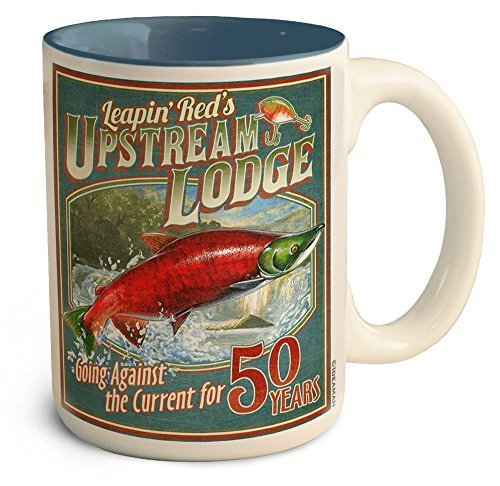 (American Expedition Coffee Mug - Leapin' Red's Upstream Lodge)