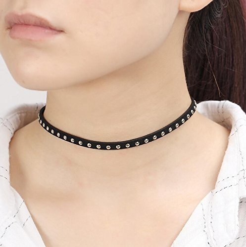 New arrival PU Leather necklace choker (Gold)