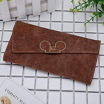 Color : Dark Brown YOIOY Envelope Clutch Bag New Korean Version of The Matte Long Wallet Diagonal Cover Wallet 3 fold Womens Cute Long Wallet Wallet Color : Blue