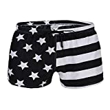 Ussuperstar Men's Casual American Flag Boardshorts Swim Shorts Beachwear