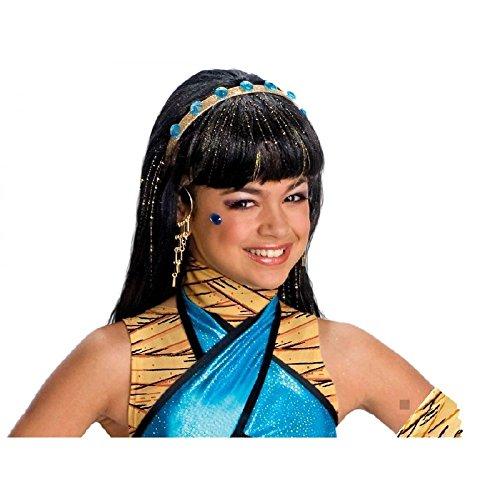 Monster High Cleo De Nile Halloween Costumes (Cleo De Nile Wig Monster High Kids Girls Cleopatra Mummy Halloween Costume Acsry)